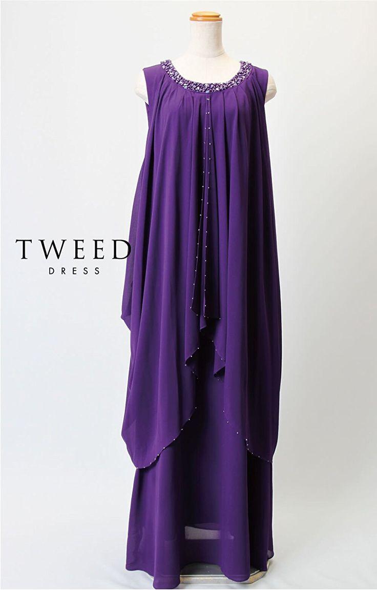 Amazon   ツイード(TWEED) 演奏会 ロングドレス ステージドレス シフォン Aライン 演奏会 2506   ワンピース・チュニック 通販