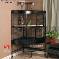 Volière cage à oiseaux canaries perruches perroquets NAPOLI H 160 cm