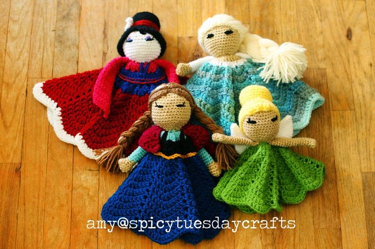 spicy tuesday crafts: My notes for the Pretty Princess Lovey pattern - R...
