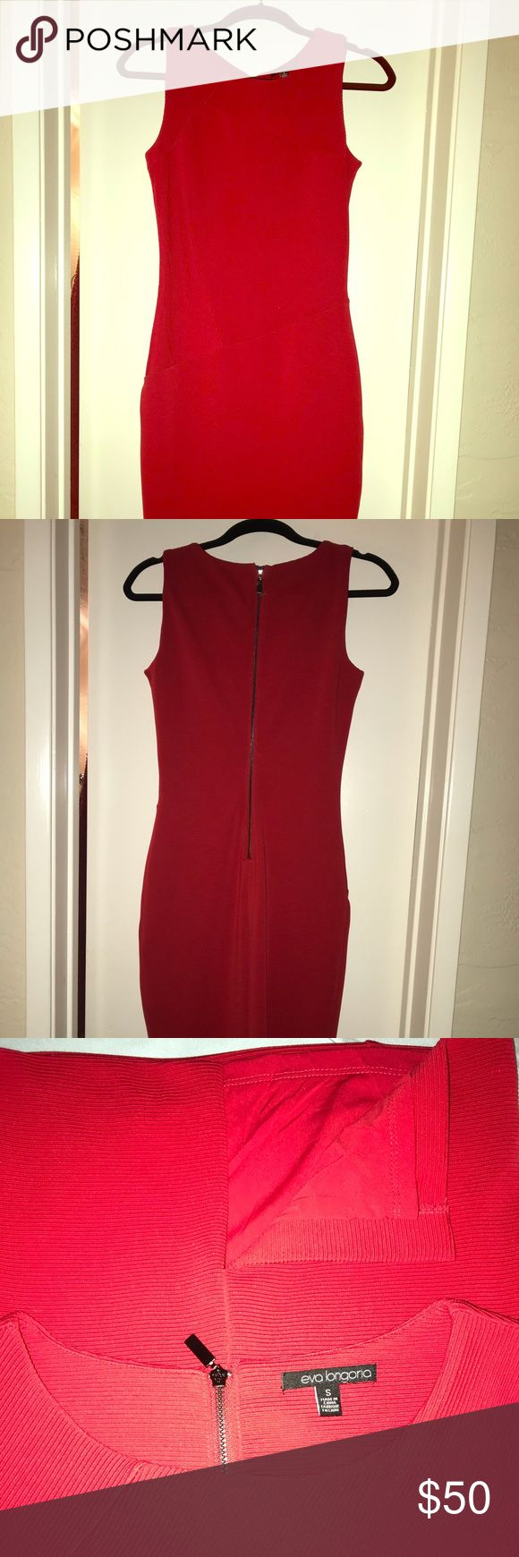 "EUC Eva Longoria Body Hugging Lined Dress Perfect for a Valentine's Day date night. This form fitting dress is a head turner. It measures about 16"" chest, 13"" waist, 16"" hips. Worn only once and no rips or stains. Eva Longoria Dresses Midi"