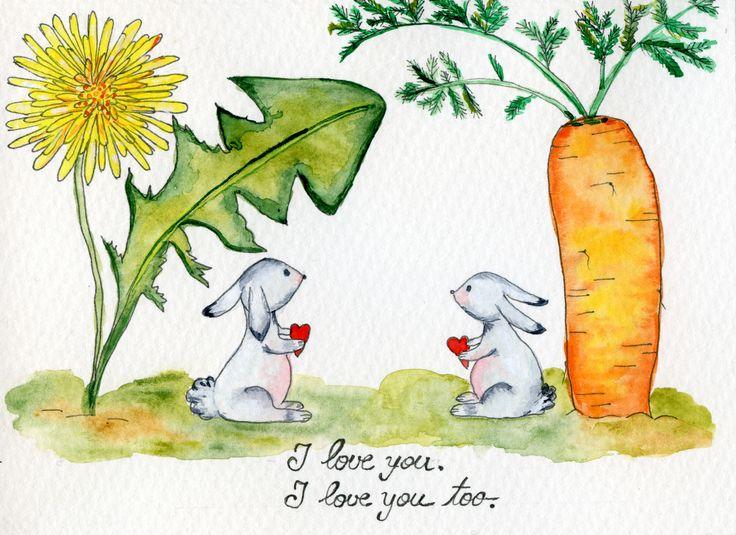 Show your heart. #story #love #heart #bunny #watercolour #cute