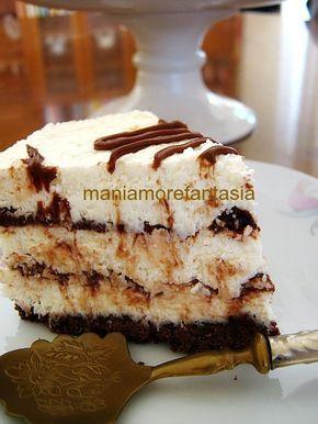 Cheesecake al cocco variegata alla nutella ricetta senza cottura