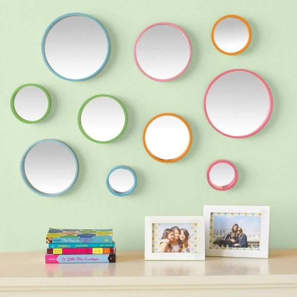 Bubble Dot Mirror set from PBteen  Lovely idea for a teen room  Find this  Pin and more on DIY Wall Decor  34 best DIY Wall Decor images on Pinterest   Diy wall decor  . Diy Wall Decor Ideas For Living Room. Home Design Ideas
