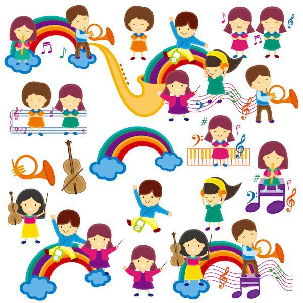 progettazione del corso di musica di simpatico cartone animato bambini s