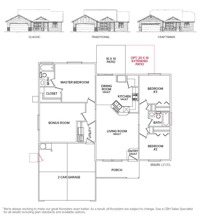 Mccall 1340 Floor Plan Legacy Collection Homes