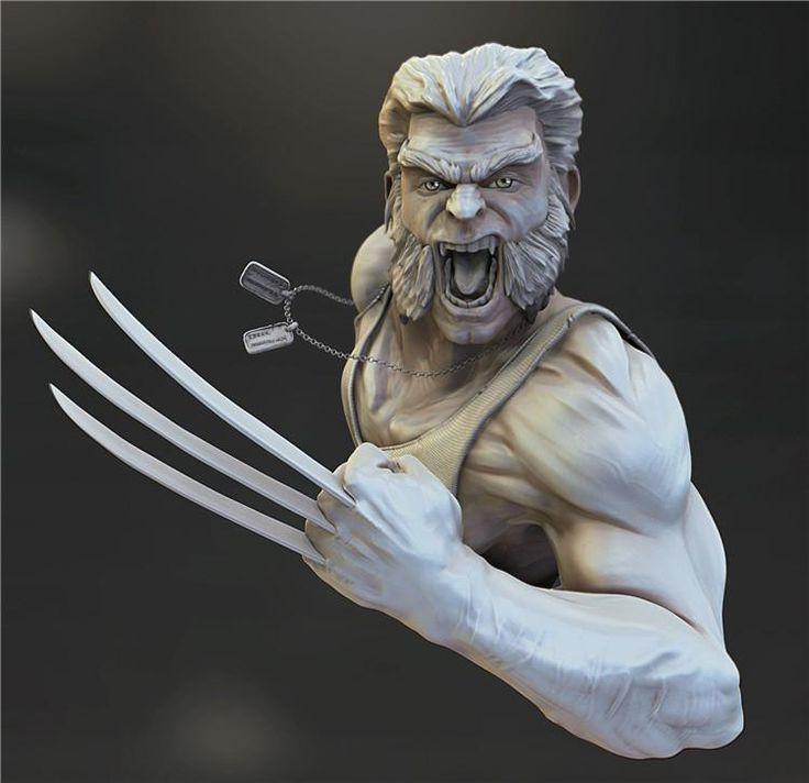 Wolverine 3d Printing Model Stl Prints Wolverine 3d Printing
