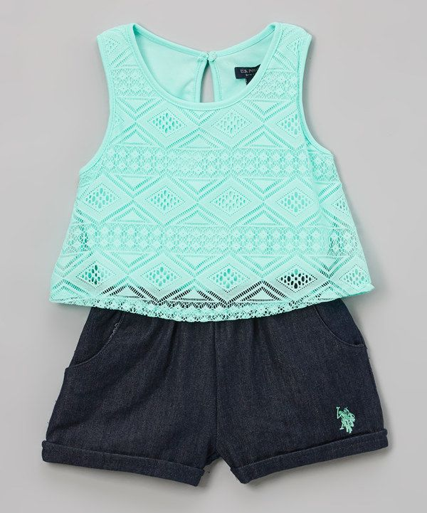 Look at this Mint Romper - Infant, Toddler & Girls on #zulily today!