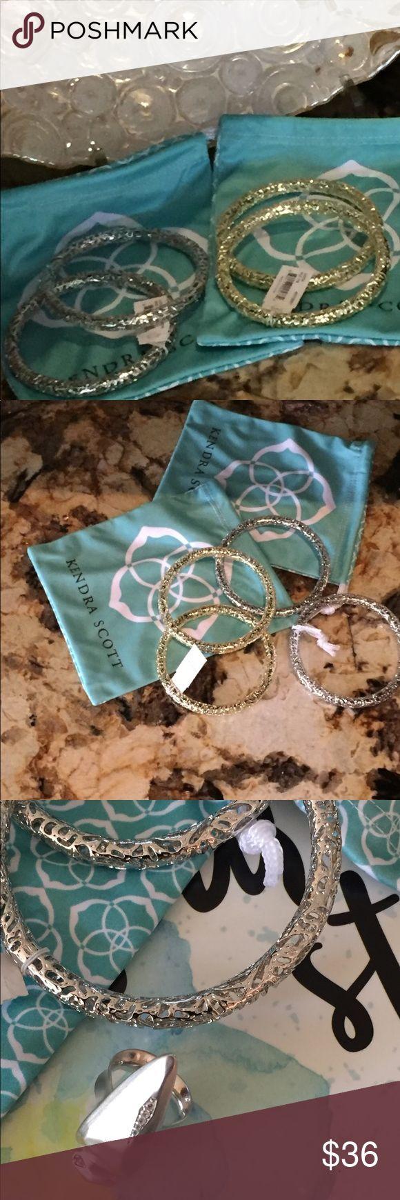 "🍭Silver Kendra Scott Lucca Bangle Bracelet 🍃Gorgeous silver Kendra Scott filigree bangle bracelet.🌱                       ▪️8"" circumference                                  ▪️1/4 width Kendra Scott Jewelry Bracelets"