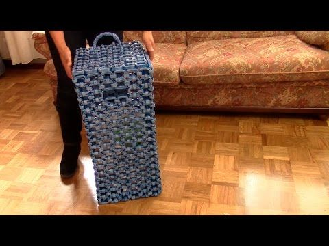 Manualidades: Cesta de papel periódico (Reciclaje) Ecobrisa DIY - YouTube