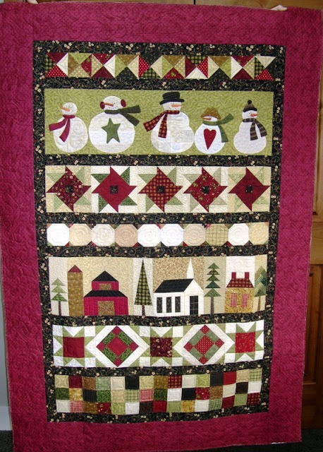 Snowmen on Parade by Amy McClellan...love this row quilt