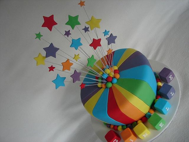 Rainbow Stars cake by MyCakes.com.au, via Flickr