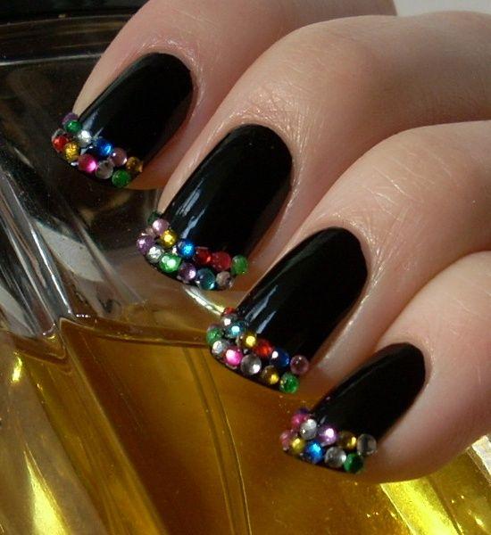 Black with Rhinestones