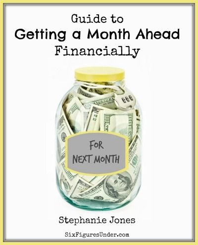 Living on last month's income is one of the best financial moves we've made…