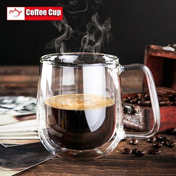 200ml Double Wall Gl Cup Transpa Coffee Glware Mugs