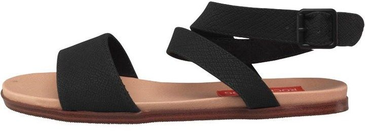 Rocket Dog Womens Nori Snakewood Sandals Black