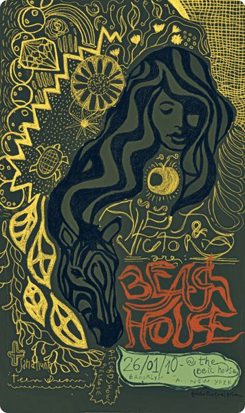Beach House @ The Bell House by Idiota  Gig Promo: The Best Modern Concert Posters — Cher Amis