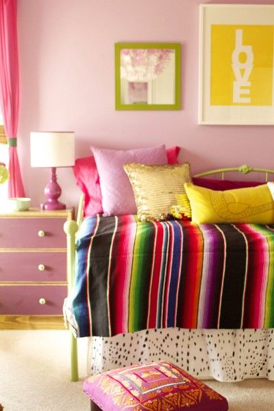 Bright Colorful Bedroom (The Last One!) - Laurie Jones Home