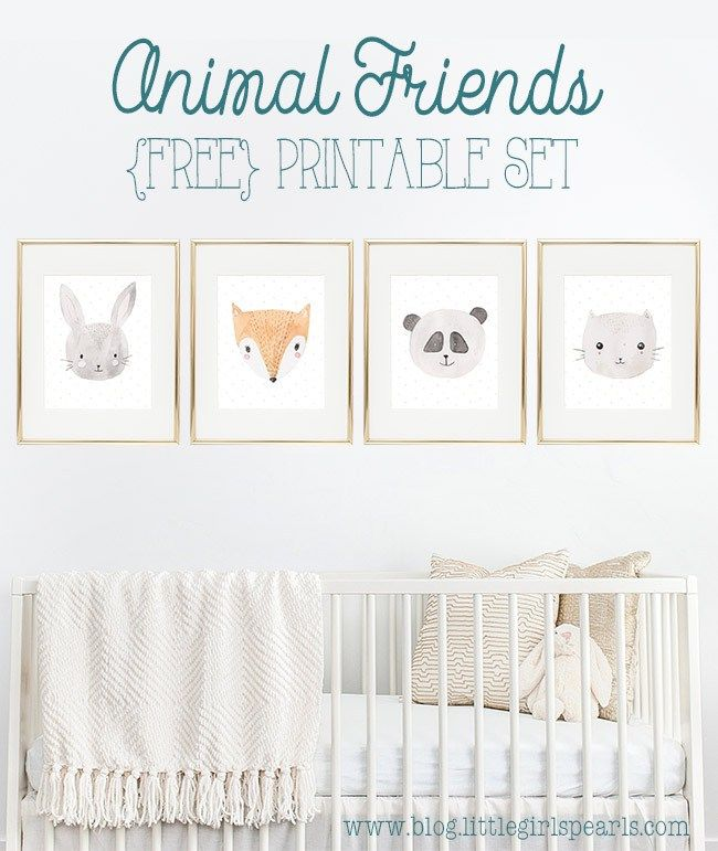 Adorable Fluffy Animal Friends Free 8x10 Printable Set - {blog} Little Girl's Pearls | Little Girls Pearls