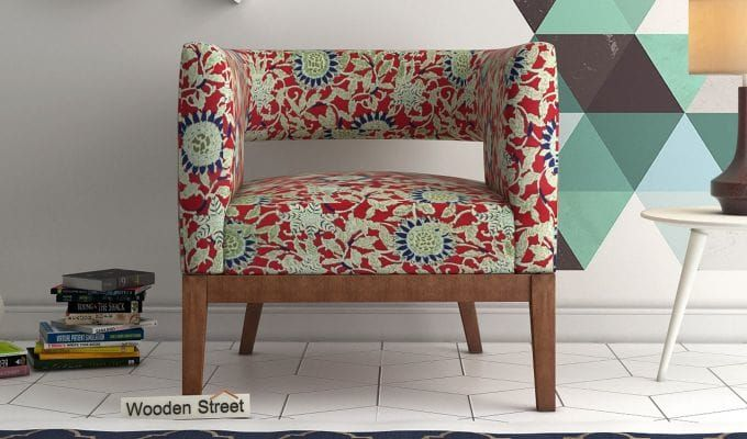 Buy Wolper Lounge Chair Rosy Leaf Online In India Wooden