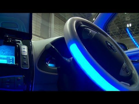 Nissan's Carlos Ghosn at the Autonomous Drive Vehicle's Wheel