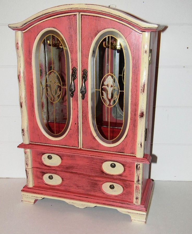 126 best Jewelry Box Redos images on Pinterest Jewelry armoire