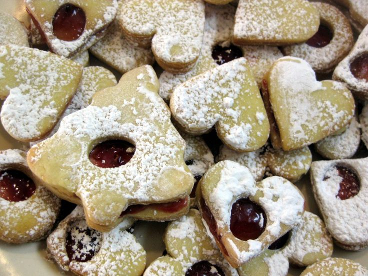 Slovak and Czech Christmas heart cookies