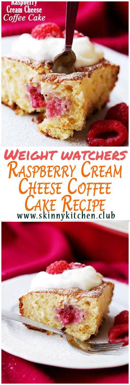 Recette du gâteau au café au fromage à la crème et aux framboises WW    – Recipes