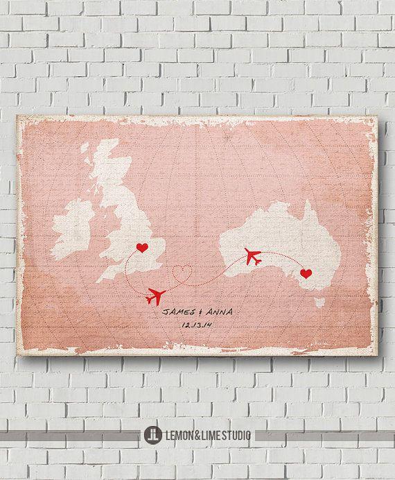 Unique Wedding Guest Book Vintage World Map by MarshmallowInkLLC