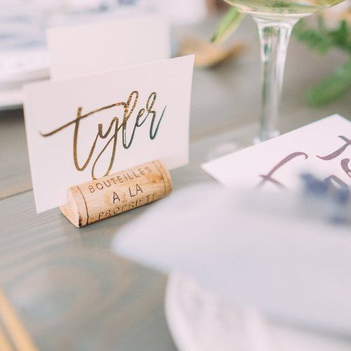 Joshua Suite - Modern Script Invite Place Card Gold Foil  Calgary by Pink Umbrella www.pinkumbrelladesigns.com Photo by Darren Roberts