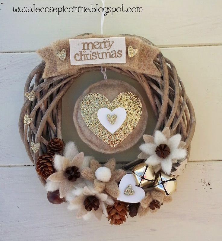 Glitter Christmas wreath - Le cose Piccinine
