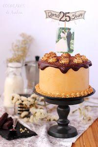 Esta tarta del blog COOKCAKES DE AINHOA es espectacular en cuanto a sabor y presentación.