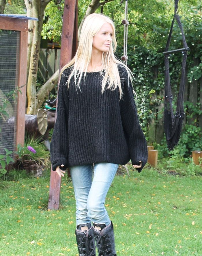 lammeuld strikbluse sweater