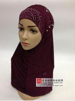 Nueva moda musulmana hijab musulmán mujeres bufanda islámica ropa para mujeres(China (Mainland))