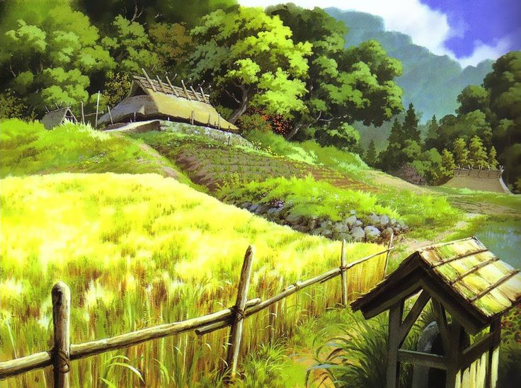 """Princess Mononoke もののけ姫"" by 山本二三 Nizō Yamamoto* Backgrounds Art 