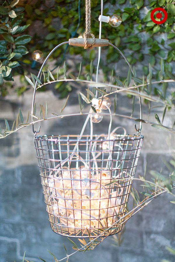 Diy Wire String Lights : Best 20+ Wire basket chandelier ideas on Pinterest Diy chandelier, Orb light fixture and ...
