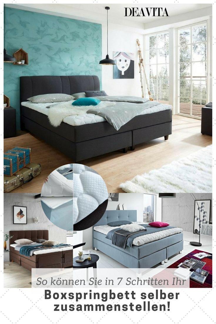 in 7 einfachen schritten knnen sie das perfekte boxspringbett selber zusammenstellen und den grozgigen - Blair Waldorf Schlafzimmer Dekor