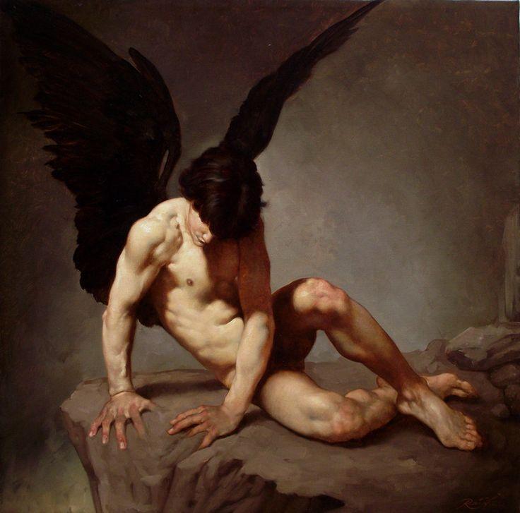 Cuando el arte se encuentra a Supernatural  ANGELO CADUTO 2011 by Roberto Ferri - Galleria quadri e dipinti