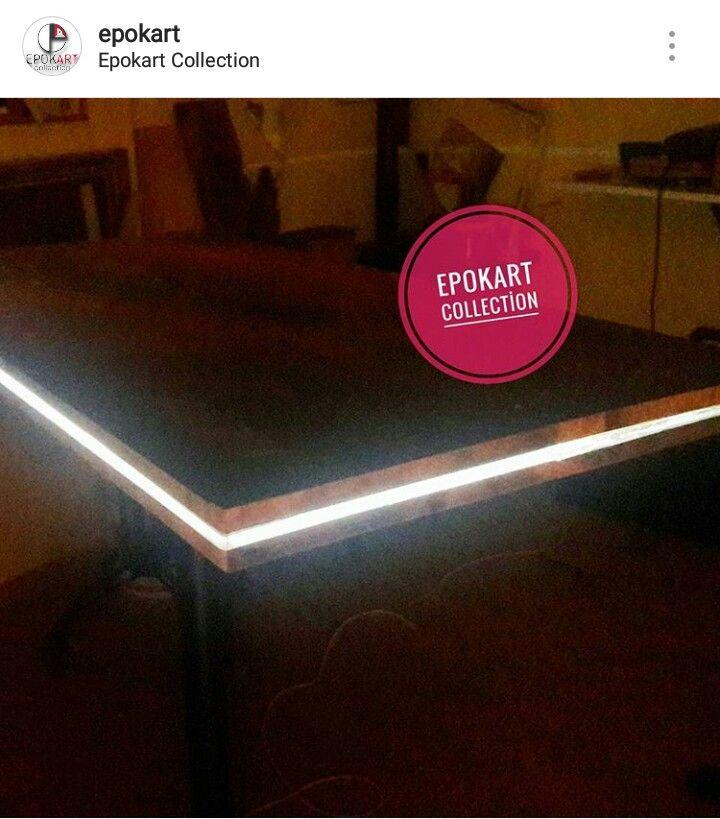 Light table#wood#epokart  collection 😍