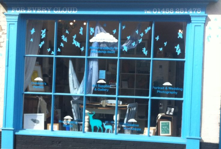 Shop window in the pretty market town of Langport