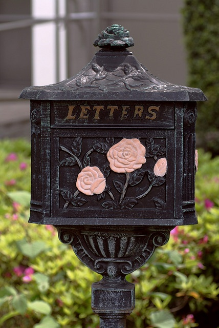 antique mailbox of pink rose by jungle_durian, via Flickr