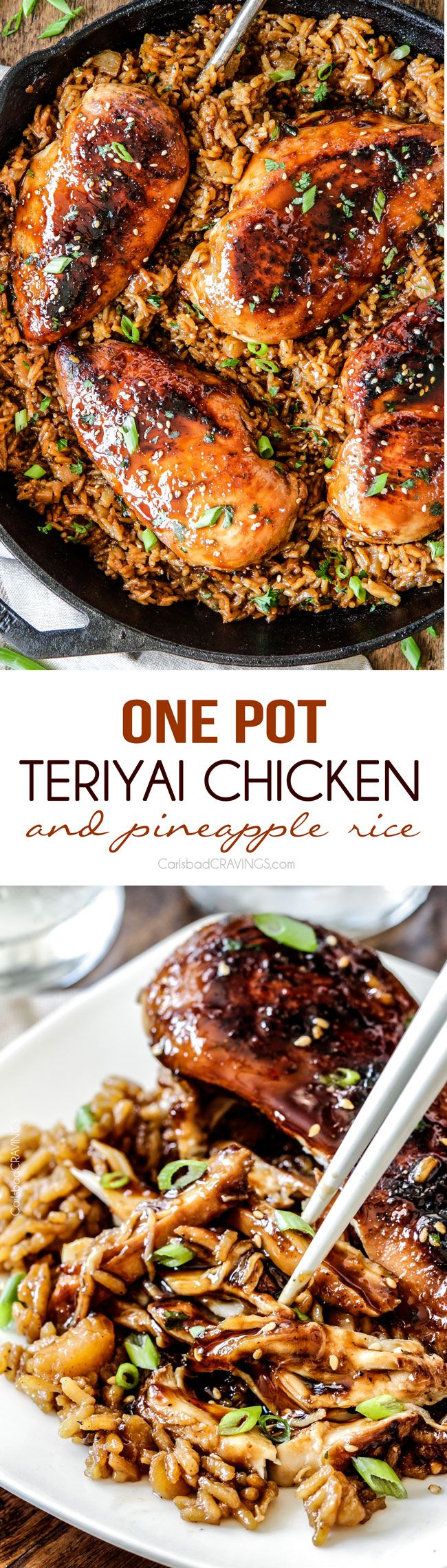Easy One Pot Teriyaki Chicken with Pineapple Rice