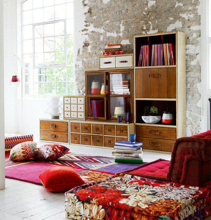die 25+ besten ideen zu teppich bunt auf pinterest | vintage ... - Wohnzimmer Ideen Bunt