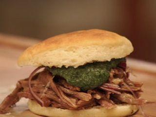 Sándwich de carne ... Narda Lepes