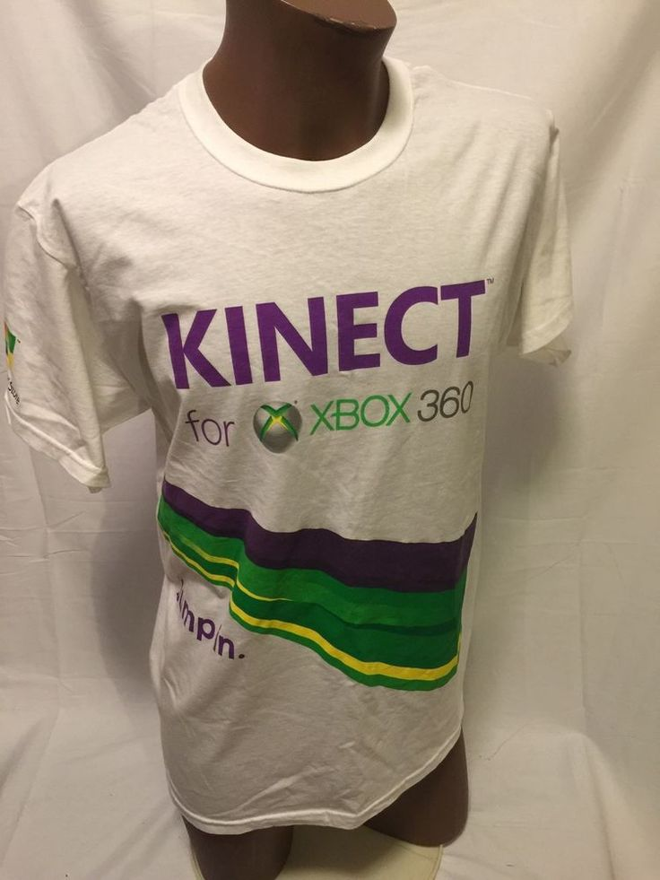 MICROSOFT STORE kinect xbox 360 PROMO white L large T shirt VIDEO GAME | Clothing, Shoes & Accessories, Men's Clothing, T-Shirts | eBay!