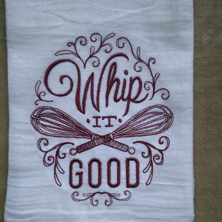 Whip It Good Flour Sack Towel, Christmas Kitchen Towels, Embroidered Kitchen  Towels, Southern