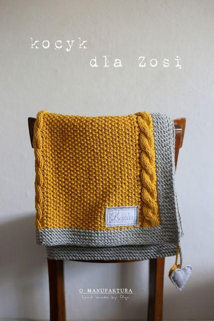 hand made by Olga: Dwukolorowy dziergany kocyk dla Zosi .... i coś o ...