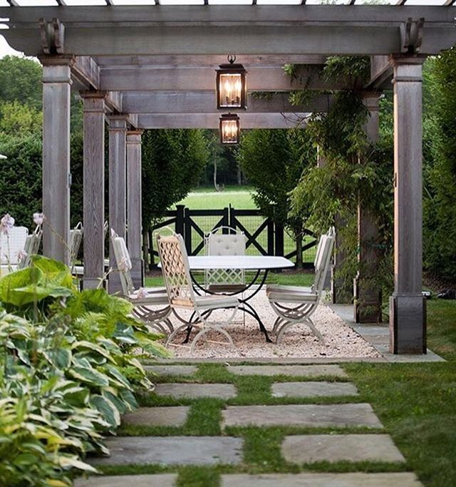 Pergola inspiration Via @sandecor By Janice Parker Landscape Design   Promoting landscaping and horticultural excellence through the high quality construction and care of public, private & commercial spaces #landscaper #landscapearchitecture #landscapecontractor #outdoorliving  #landscapedesign  #gardendesign  #landscapeconstruction  #construction  #gardens #landscapeprofessionals #lnamember #pergola #areyouusingaprofessional