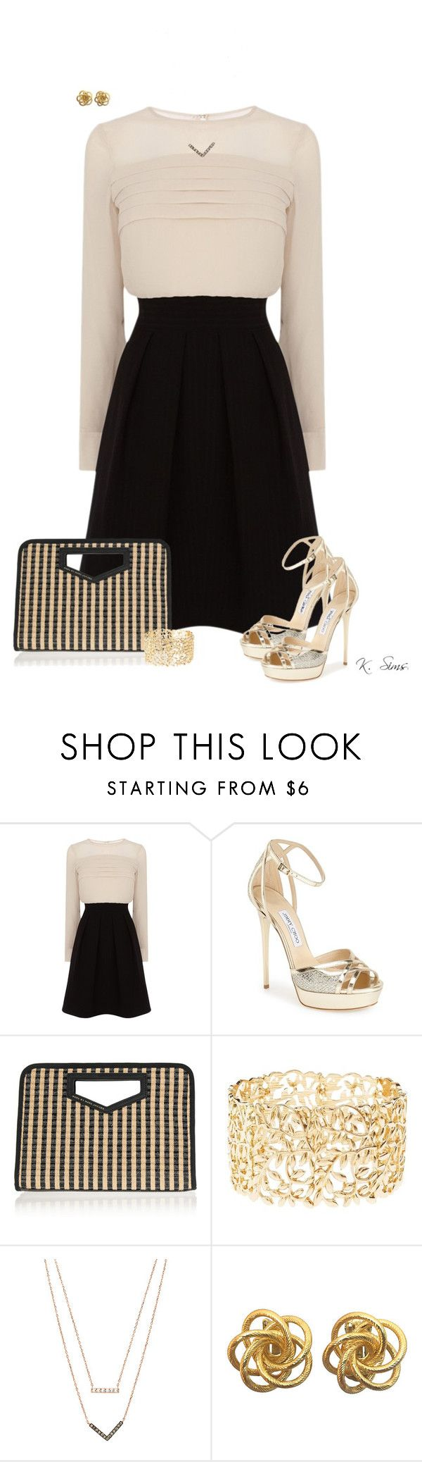 """""""Get dolled up and go out"""" by ksims-1 ❤ liked on Polyvore featuring Karen Millen, Jimmy Choo, Marc by Marc Jacobs, Charlotte Russe and Michael Kors"""