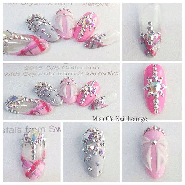 """2015 SWA Swarovski Crystal Collection.  Gellyfit Nail Art Competition Our Final Entry is Electra Melissa @missgsnaillounge . Her Theme is "" Shine Bright…"""