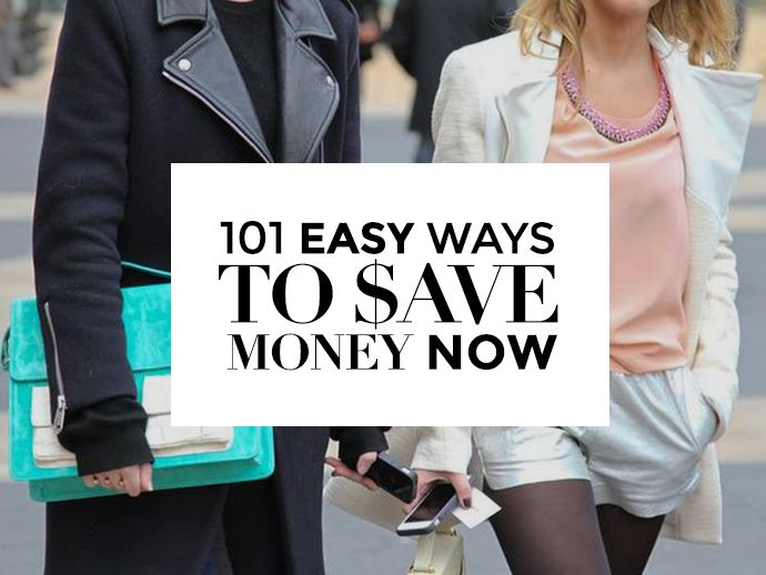 101 Ways To Save Money Right Now